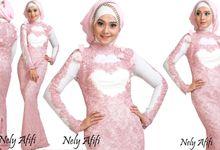 Garden jurney pink rose by Wedding Dress Muslimah Designer