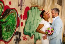 Civil Afro American wedding in Nafplio by MarrymeinGreece