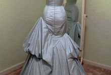 Couture Silk Taffeta Asymmetrical Evening Gwn by Desiree Spice