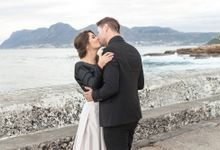 Black & Gold Winter Wedding Chic by Leanne Love Photography