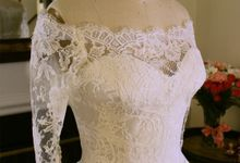 Vintage inspired wedding gown by Desiree Spice