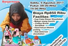 kursus kelas pelatihan cup cake dari icing fondant by Lily Cake Shop Banjarmasin