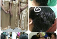 Family makeup n Gown by The Bride House