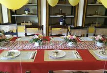 Birthday Table Arrangement by Flower Inc.