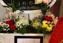 Birthday Table Arrangement by Flower Inc.