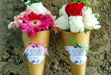 ice cream flower cone by Colours Florist