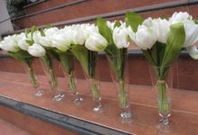 All about flower in a glass by Zamia Florist