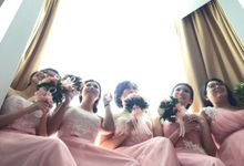 David & Melissa Wedding by Lademoiselle Bridesmaids