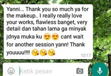 Clients Testimony by Yanni Make Up Artist