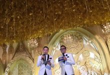 with Edric Tjandra at The Wedding of Inneke and Bernard by Adi Siswowidjono
