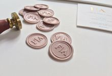 Franky & Annona - Wax Stamp by Cartavantie Invitation, Stationery, and Gifts