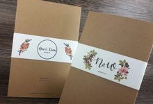 Soft cover rustic theme by Achy Invitations