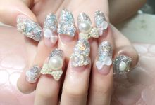 Customized Bridal Nailart by Nail Haven