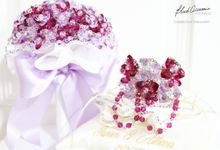 Crystals Themed Weddings by Blackaccessories, specialises in Crystal Hand Bouquet by Blackaccessories - specialises in Crystal Bouquet
