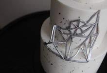Silver Geometric by Winnie Cake Couture