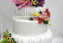 3-tier Customised Wedding Cakes by Cake Avenue