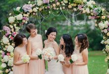 Outdoor Garden Ceremony by Jovita Lo Weddings