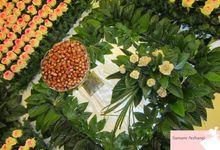 Plaid rose & foliage by Samaneh Arzhangi