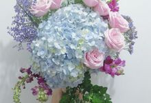 Bridal Bouquet Flowers by Benangsari Flower Studio