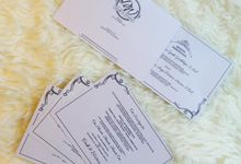 Traditional and Classic Wedding Invitations in Gray by Paperstory