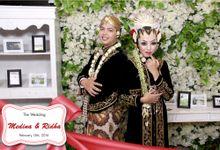 wedding of  Ridha & Medina by Netjes Photobooth