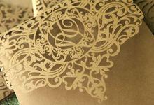 Modern Lasercut design by Invitation designs by kenneth uy