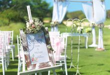 Golf Course Wedding Set Up by Bali National Golf