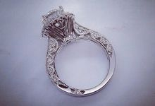 Diamond Engagement Ring by Kapasan Gold