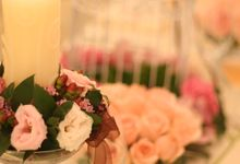 Brown Pink Theme and a touch of Red by Simply Flowers Pte Ltd