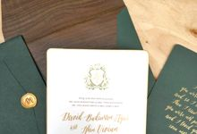 Green Peacock Invitation by Cameo
