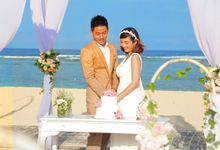 BEACH WEDDING SETUP by Bali National Golf