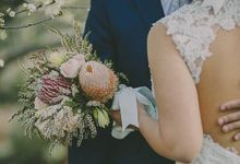 Rustic Bridal Bouquet by Petit Petal