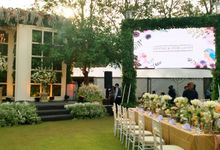 LED Rental for Garden Wedding Party by Studio Pro