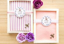 Lavender Peach Passport Covers by Pastiche Touch
