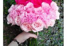 Sweet Pink bouquet theme by Rossely's Florist