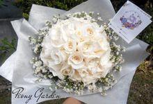 Peony Hand Bouquet by Peony Garden Bali