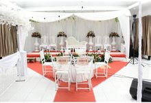 white simple and cheapest decoration for sure by Party Planner Bogor