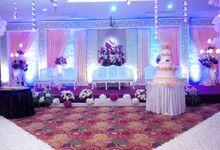 Purple Ambience Wedding Decoration by Grand Avilla Ballroom