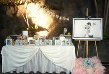 Gallery Table and Photo Corner by Pumpkin and Roses Wedding Planner & Stylist