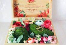 Wedding Ring Box by Primrose Floral Design
