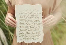 Handlettering on Paper for Photoshoot by Lettering and Life