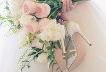 Elegant Peach & Cream Garden-themed Destination Wedding in Singapore by Le Fairymeadow