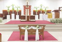 Holy Ceremony in GKJ Jakarta by CITTA Wedding