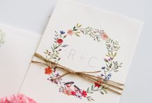 R & C Wedding Invitation by Wonderee Decoration & Paper Goods