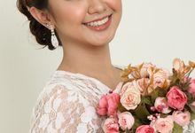 romantic wedding makeup by kintan yulita