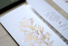 Gold Leaves by Forget Me Not Invitation