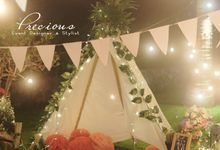 Bohemian Garden Intimate Party by Precious Event Design