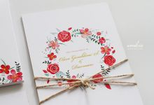 O & D Engagement Invitation by Wonderee Decoration & Paper Goods