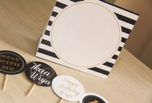 Wira Birthday | black and gold stripes partykit by 99% creative party