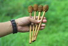 Honey Dipper Long Handle Teakwood by sakacraft
